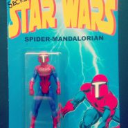 "a action figure mashup titled ""Spider-Mandalorian"""