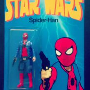 "a action figure mashup titled ""Spider-Han"""